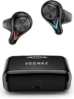 VEENAX L11 Auriculares Inalámbricos Bluetooth 5.0, Auriculares Estéreo Deportivos TWS Control Táctil, Cascos In Ear con Mi...