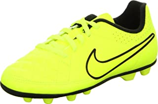 NIKE JR TIEMPO RIO II FG-R Youth Molded Soccer Cleats Yellow Punch Black 2.5Y