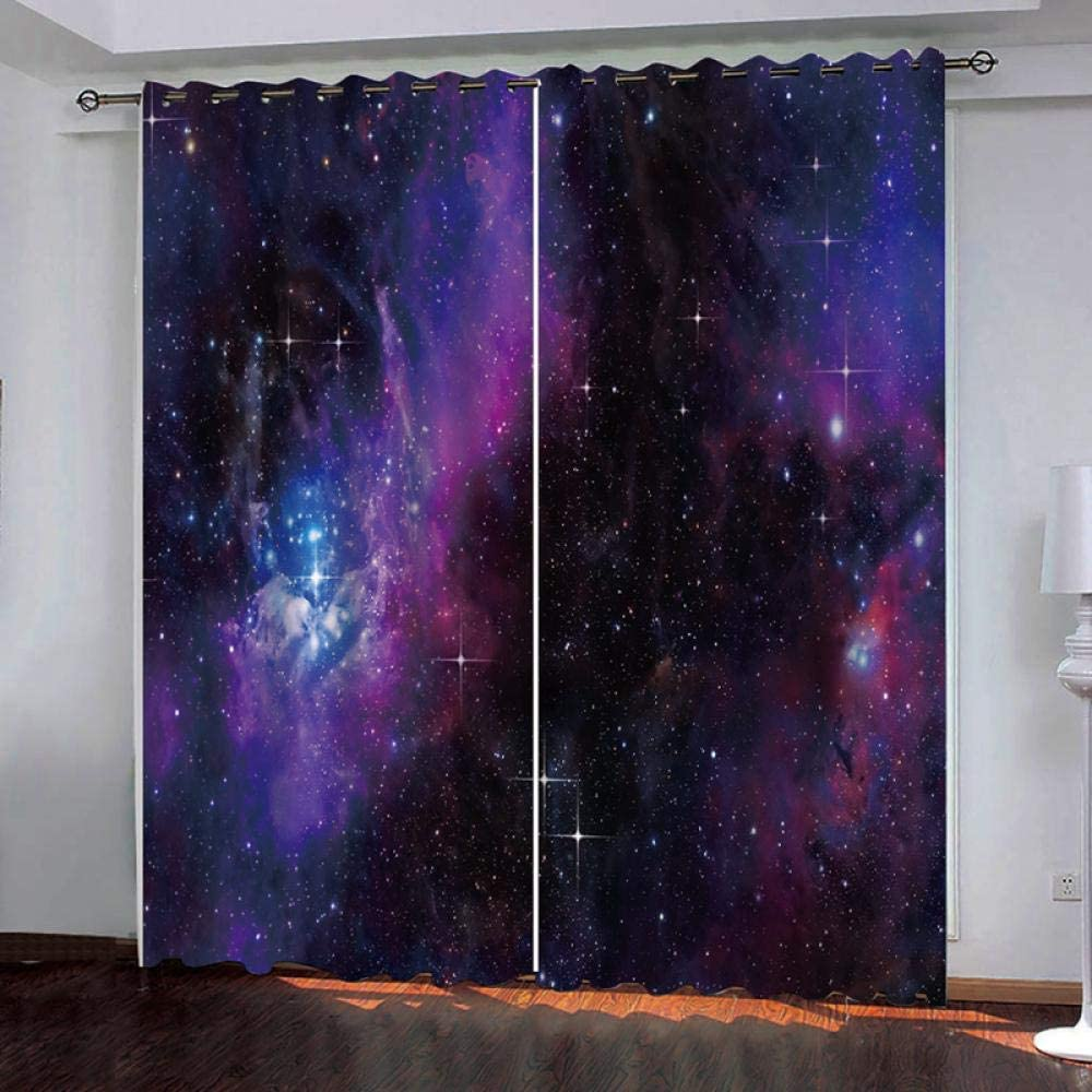 Blackout Curtain Starry Import Sky 3D Houston Mall Microfiber Insula Printed Thermal