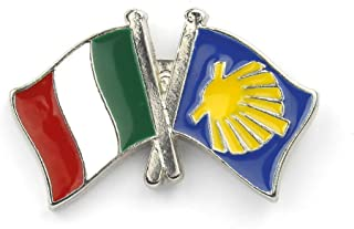 Spilla pin distintivo bandera dell'Italia Cammino del Santiago