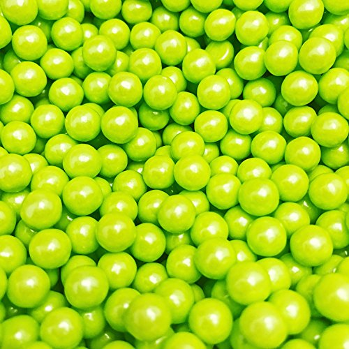 Shimmer Lime Green Candy Pearls - 2 Pound Bags - - Includes How to Build a Candy Buffet GuideDelicious Toppings on Desserts or Fillers for Candy Tables ...