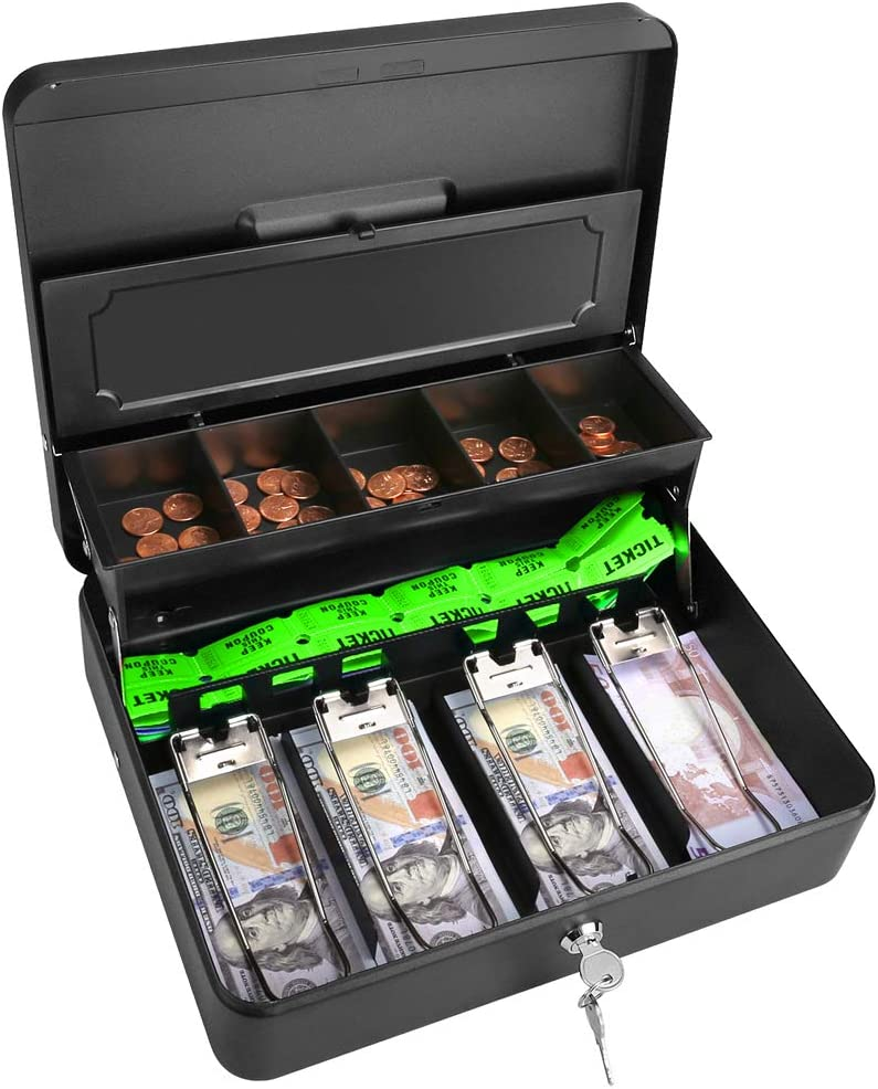 Cash Box Steel Money 9.5