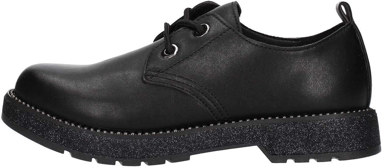 CAF schwarz FA960 Schwarze Schuhe Frau Derby Glatte Schnürsenkel 39