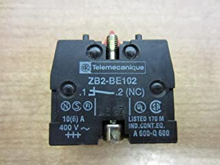 Telemecanique ZB2BE102 Pushbutton+Selector Switch Contact Block, Type: XB2, Size: 22mm, 10A, 600V NC