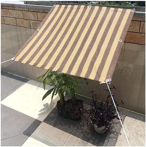 ALGFree Schattenspender Sonnenschutz Sonnentuch Schattensegel Beschattungsnetz Atmungsaktiv Für Garten Camping Terrasse Outdoor,23 Tailles (Couleur   marron, Taille   5×6m)