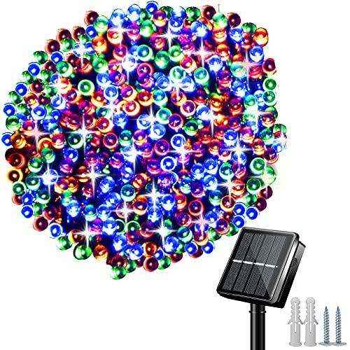 Guirnalda Luces Exterior Solares,  32M 240 LED Cadena de Luces Solares,  8 Modos Impermeable Luces Navidad Decoración para Bodas,  Jardines,  Patio,  Navidad,  Festivales (Multicolor)