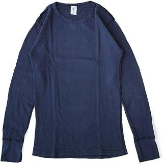 [ベルバシーン] Velva Sheen 長袖Tシャツ 無地 スラブ サーマル パックTシャツ 161462Lネイビー
