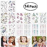Toyvian Unicornio Tatuajes de uñas Conjunto de Pegatinas 10PCS Tatuajes 4 UNIDS...