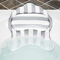 Kranich 3D 6 Suction Cups Neck Mesh Spa Bath Pillow for Tub