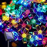 Luci Solari Della Corda - 10M 100 LED Impermeabile All'aperto Luci Solari con 8 Modalità, Filo di Rame Decorativa Luci Della Stringa per Albero di Natale, Matrimonio, Giardino e Patio