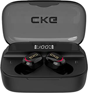 $39 » Sponsored Ad - Wireless Earbuds, CKG PowerBuds Pro with 3350mAh USB C Power Bank Charging Case, Mini Size Bluetooth Earpho...
