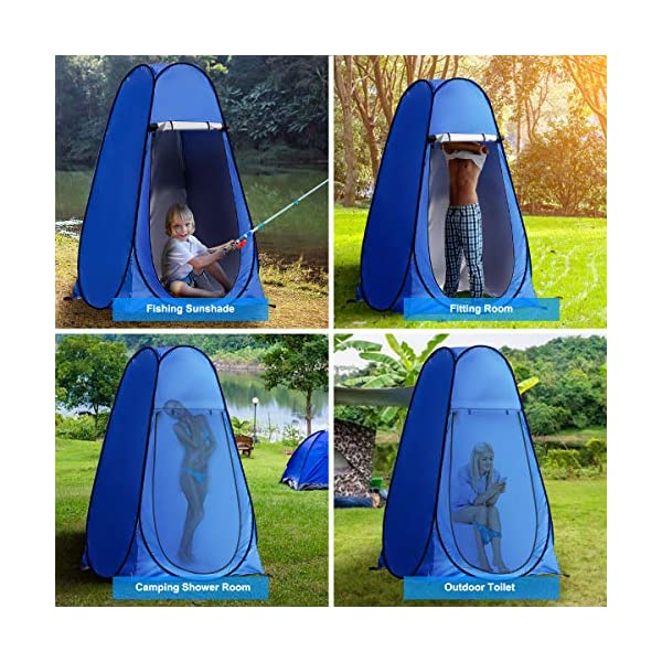 Laelr Pop up Toilet Tent, 4 Pack Shower Privacy Toilet Changing Room Changing Tent Foldable & Portable Beach Dressing… 3