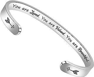 BTYSUN Bracelets for Women Inspirational Gifts for Women Girls Motivational Birt