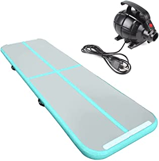 Air Track Tumbling Mat Gymnastics Inflatable Airtracks Gym Mats with Electric Air Pump Home Indoor Workout Training Cheerleading Use by Rolimate