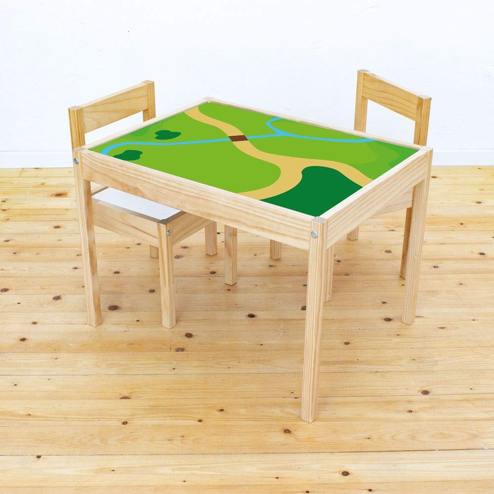 Muebles en adhesivo Juego Wiese – Apto para Ikea Lätt – Mesa infantil – Mesa de juegos infantil – Muebles No incluye: Amazon.es: Juguetes y juegos