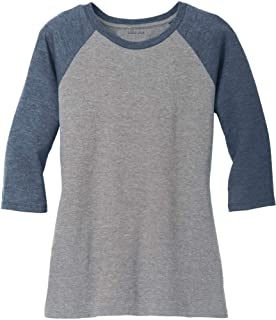 Ladies Raglan Baseball T-Shirts-3/4 Sleeve Baseball Tees. Sizes XS-4XL