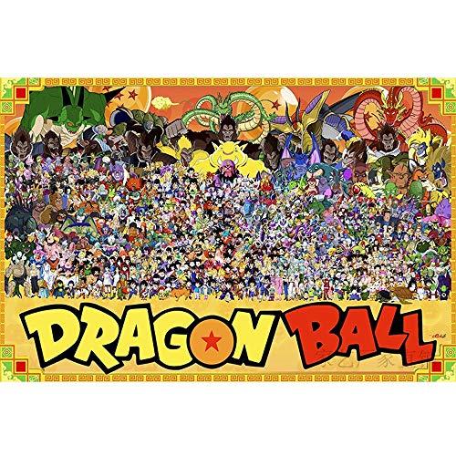 DIY monta Puzzle HD cartel colorido Inicio Puzzle 1000 piezas del rompecabezas Ocio rompecabezas animado Dragon Ball Z rompecabezas regalo de cumpleaños for adultos descompresión Juego de Niños Educat