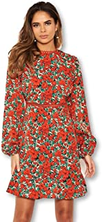 AX Paris Women`s Floral Crochet Dress
