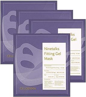 [CELDERMA] ナイントークス フィッティング ジェルマスク 4枚 Ninetalks Fitting Gel Mask 水分 栄養 保湿 パック フェイスパック