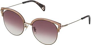 Police Round Sunglasses for Women - Violet Gradient Pink Lens, SPL739M54a39R