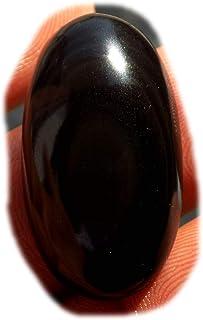 Cabujón de obsidiana negro arco iris, piedra preciosa semipreciosa natural, 100Ct forma redonda 40x40x9mm, K-03040