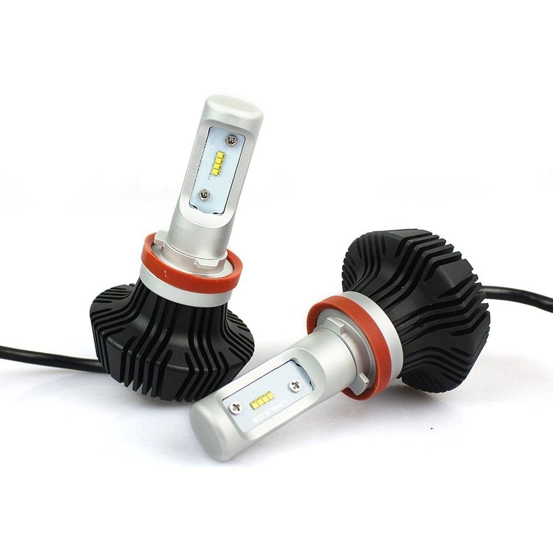 誤遷移キャンセル「SUPAREE」H11/H8/H9/H16(国産車)用 車検対応 PHILIPS LUMILEDS LUXEON ZES チップ採用 LED ヘッドライト フォグランプ 8000Lm 6500k 25W 12V/24V兼用 ファンレス一体型 高輝度 led バルブ 2個セット 一年保証