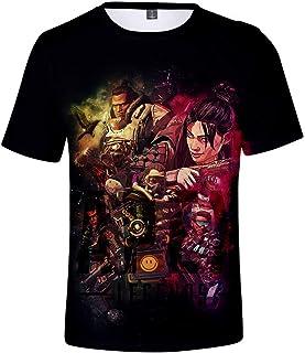 Apex Legends T-shirt Wraith Retro Men's Short Sleeve Summer T-Shirts Tees Crewneck Pullover Hip Hop Clothing