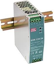 MEAN WELL EDR-120-24 Single Output DIN Rail Power Supply 24V 5 Amp 120W