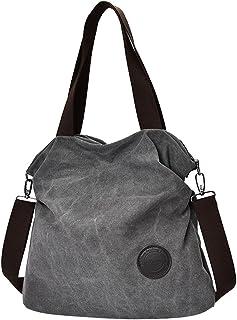 Prettyia Fashion Plain Canvas Shoulder Bag Large Capacity Women Shopping Handbag Tote
