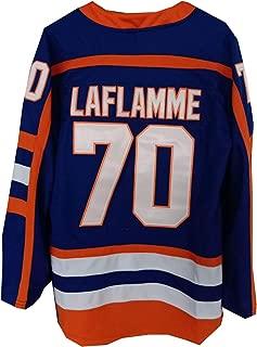 AIFFEE Men's #70 Laflamme Ice Hockey Jersey Blue Color Size S M L XL XXL XXXL Hiphop Shirts for Party