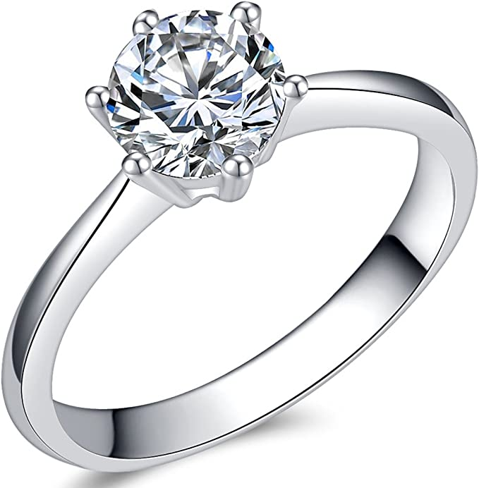 Details about  /Sterling Silver Womens Wedding Ring 3-Stone Round Cut 3.30 Carat