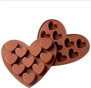 Lot de 2 moules en silicone pour chocolat, pâtisserie, cupcakes, desserts - Demi-sphère, chocolat chaud - Pour boulangeri...