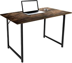 """iPEGTOP Computer Desk, 47.2"""" Study Writing Table with Headphone Hook Storage Bag for Home Office Students, Industrial Simp..."""