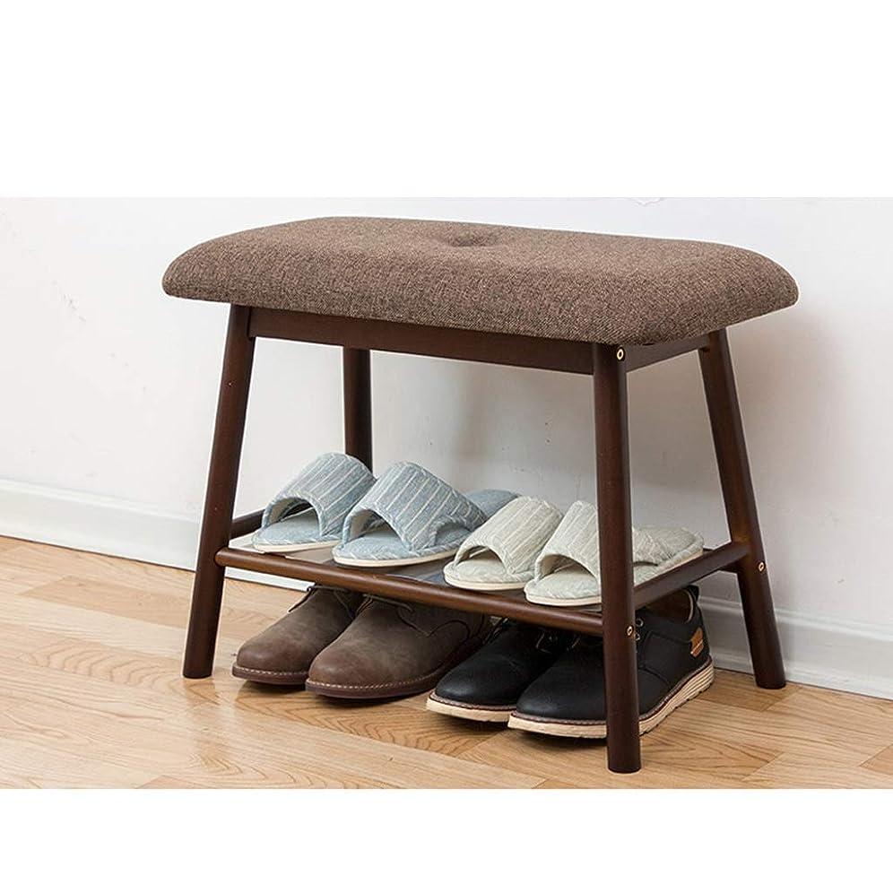 ただやる路地ふざけたIUYWL 家はドア専用の靴ベンチ寝室の靴収納スツール、茶色、グレーに靴のベンチに座ることができます ソファスツール (Color : Brown)