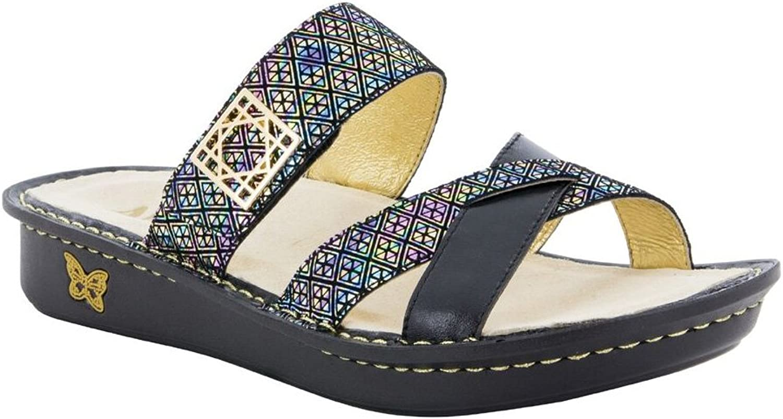 Women's Alegria, Victoriah Slide Sandals BLACK 4.1 M