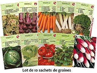 e2a0f80066731 Lot 20 paquets graines légumes potager jardin ouvrier, salade, radis,  tomate, carotte