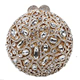 Fawziya's Clutches For Women Rhinestone Clutch Purses Handbags-Gold