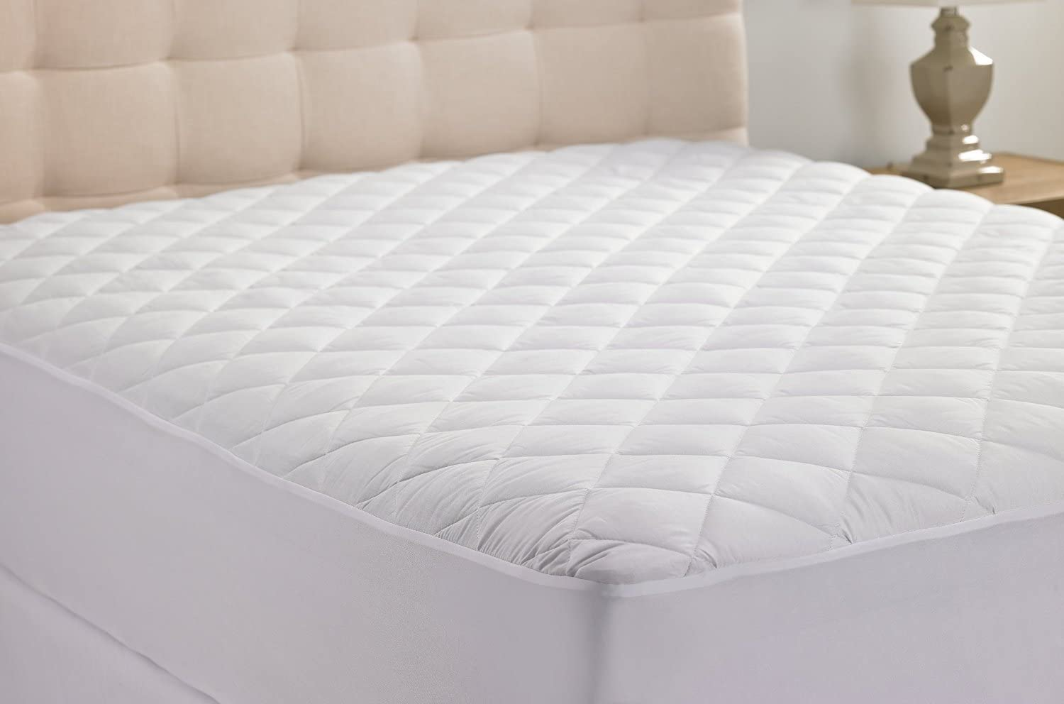 White Solid 21 Inch deep Washington Mall Pocket Mattress Cotton Pad in % 100 Bombing new work Top