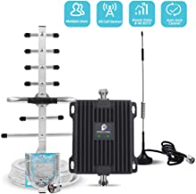 Cell Phone Signal Booster for Verizon AT&T T-Mobile GSM 3G Home Use - Boost Mobile Phone Voice and Text Signal by Dual Band 850/1900MHz Band 2/5 Cellular Repeater Amplifier Kit and Omni/Yagi Antennas