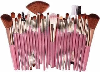25本セット メイクブラシ Duglo 化粧筆 人気 基礎メイクアップブラシ 毛量たっぷり 極細毛 粉含み抜群 メイクブラシセット 化粧筆 ファンデーション 敏感肌適用 フェイスブラシ キラキラ化粧ブラシセット Makeup Brushes Set (25本, K)