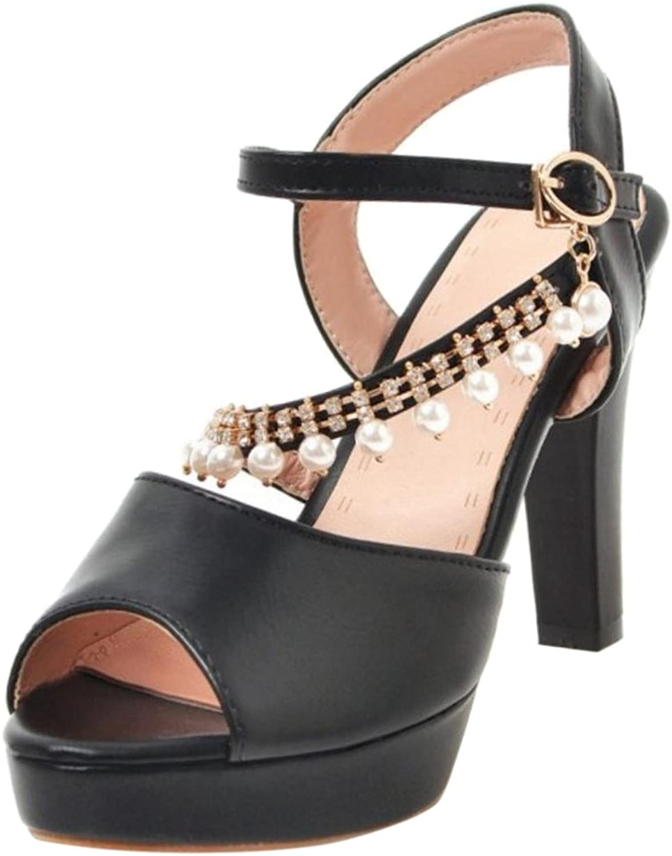 FANIMILA Women High Heel Sandals Beadeds