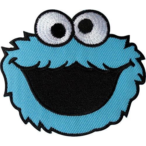 Sesam Street Cookie Monster Patch Embroidered Iron on/Sew auf Kleidung Badge