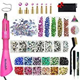 Hotfix Rhinestone Setter, Hot-fix Applicator Tool Kit, Hot Fix Wand, 4080 Pcs, AB Crystal,...