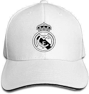 HKKdd Real Madrid C.F. Logo Football Club Adjustable Sandwich Baseball Cap
