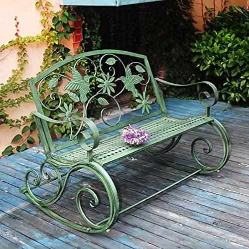 Panca da giardino, panchina curva americana in ferro battuto retr貌 doppia sedia a dondolo per esterni panchina tavolo e sedia da giardino sedia da giardino decorazione per il tempo libero da giardino