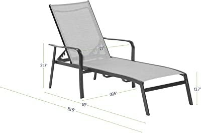 Marvelous Amazon Com Envelor Ario 3 Piece Steel Chaise Lounger Set Ncnpc Chair Design For Home Ncnpcorg