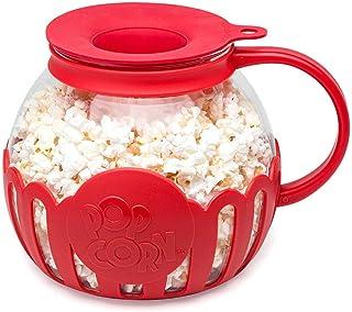 Ecolution Original Microwave Micro-Pop Popcorn Popper Borosilicate Glass, 3-in-1 Silicone Lid, Dishwasher Safe, BPA Free, ...
