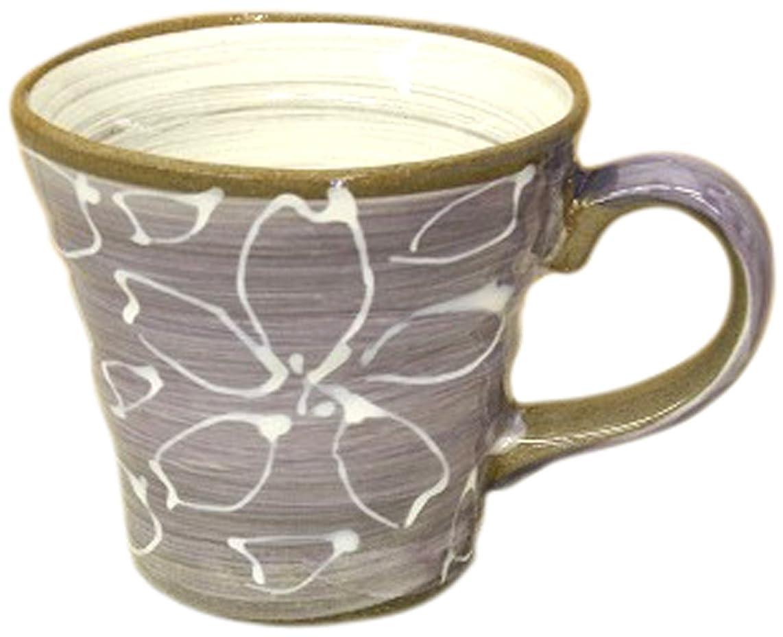 有毒ショット広々とした松本陶器 一珍紫花 マグ 41409