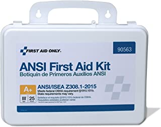 First Aid Only 90563 25 Person Bulk ANSI A+, First Aid Kit, Plastic, Weatherproof