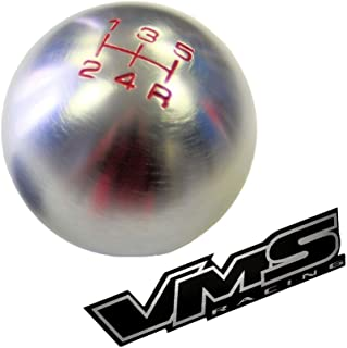 12x1.25mm Threaded 5 Speed ROUND BALL Type R S Shift knob in Gunmetal Grey Gray Silver Billet Aluminum for Toyota Camry Ce...